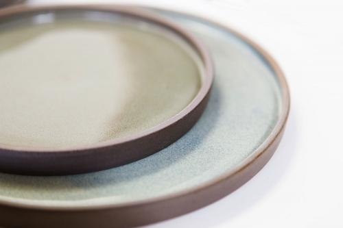 LIBELIA keramiek_borden_detail_blauw_groen