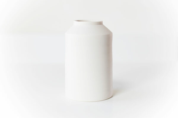 witte vaas porselein